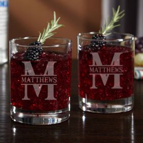 Oakmont Personalized Cocktail Glasses, Set of 2
