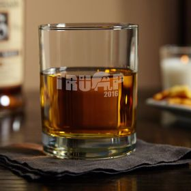 Support Trump Engraved Rocks Glass