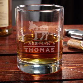 Ass Man Personalized Whiskey Glass
