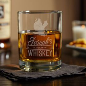 Rushmore Engraved Whiskey Glass