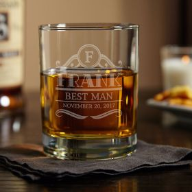 Rockefeller Personalized Eastham Whiskey Glass