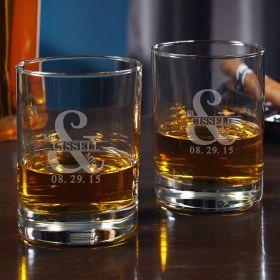 Love & Marriage Custom Eastham Whiskey Glass Set