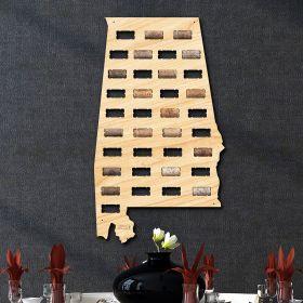 Alabama Wine Cork Map