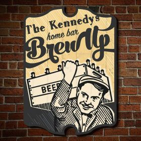 Brew Up! Personalized Beer Sign for Home