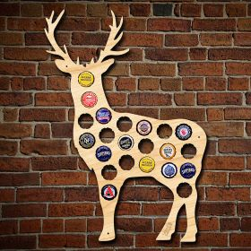 Buck Deer Beer Cap Map Decor