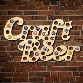 Craft Beer Phrase Bottle Cap Holder
