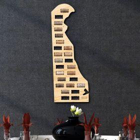 Delaware Wine Cork Map