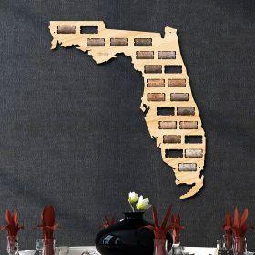 Florida Wine Cork Map
