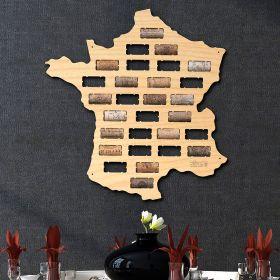 France Wine Cork Map