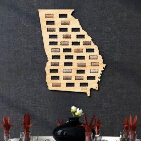Georgia Wine Cork Map