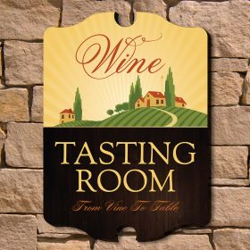 Tasting Room Wooden Wine Sign