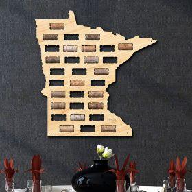 Minnesota Wine Cork Map