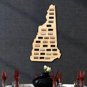 New Hampshire Wine Cork Map