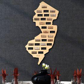New Jersey Wine Cork Map