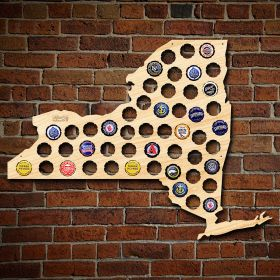 New York Beer Cap Map