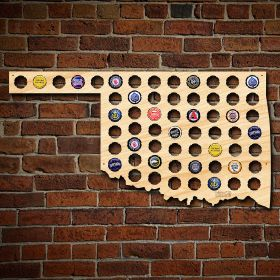 Oklahoma Beer Cap Map