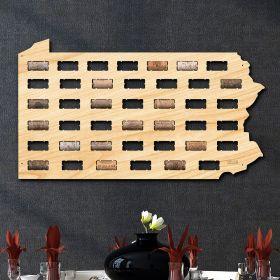 Pennsylvania Wine Cork Map