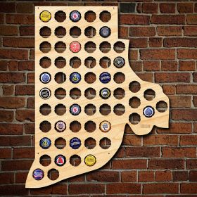 Rhode Island Beer Cap Map