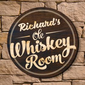 Whiskey Room Home Bar Sign (Signature Series)
