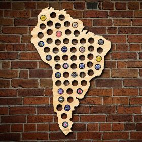 South America Beer Cap Map