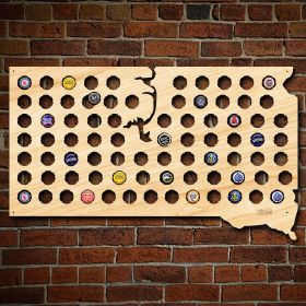 South Dakota Beer Cap Map