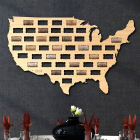 USA Wine Cork Map