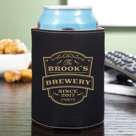 Vintage Brewery Personalized Can Koozie