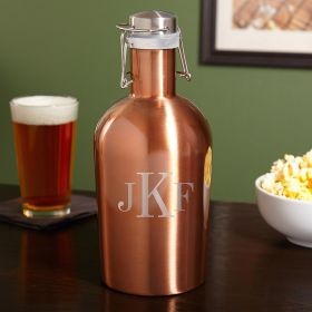 Novare Monogrammed Stainless Steel Growler 64oz
