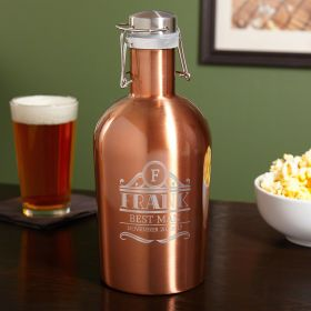 Rockefeller Copper-Tone Stainless Steel Beer Growler