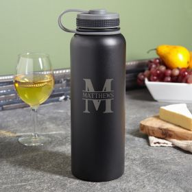 Oakmont 40 oz Insulated Metal Growler - Black