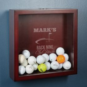 Back Nine Club House Personalized Golf Shadow Box