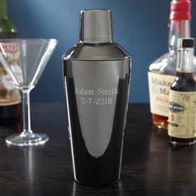 Midnight Gray Personalized Gunmetal Cocktail Shaker