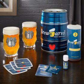Brew Barrel Beer Making Kit and Engraved Beer Steins
