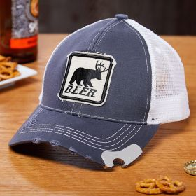 Bear Beer Deer Baseball Cap Bottle Opener