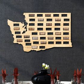 Washington Wine Cork Map
