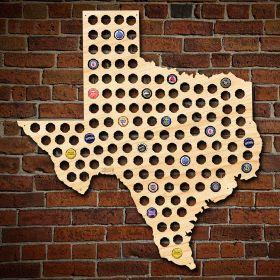 Giant XL Texas Beer Cap Map