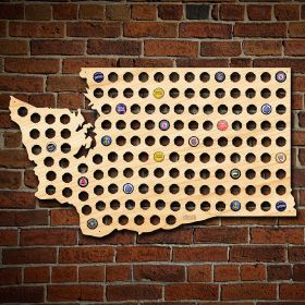 Giant XL Washington Beer Cap Map