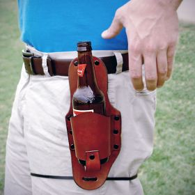 Brown Leather Beer Holster