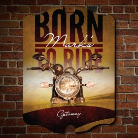 Born to Ride Personalized Wall Sign