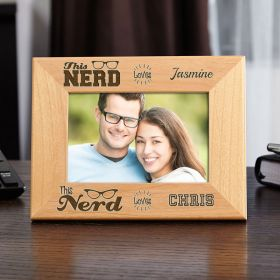 Nerd Love Personalized Wood Picture Frame