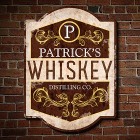 Vintage Distillery Personalized Pub Sign