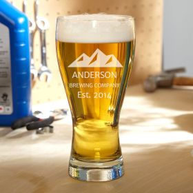 Rocky Mountain Personalized Pilsner Glass