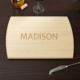 Family Treasure Personalized Bamboo Cutting Board 8x11