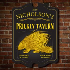 Prickly Tavern Vintage Personalized Sign