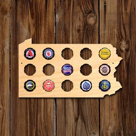 Small Pennsylvania Beer Cap Map