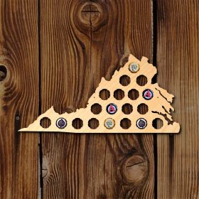 Small Virginia Beer Cap Map