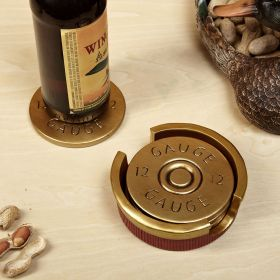 12 Gauge Shotgun Shell Coaster Set
