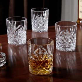 Dublin Cut Crystal Whiskey Glasses, Set of 4