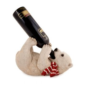 Frolicking Polar Bear Single Wine Bottle Holder