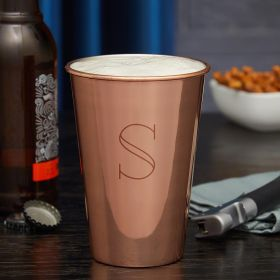 Engraved Copper Pint Glass